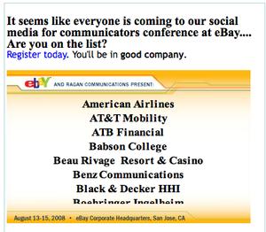 eBay/Ragan Social Media Conference this week   Segal Benz